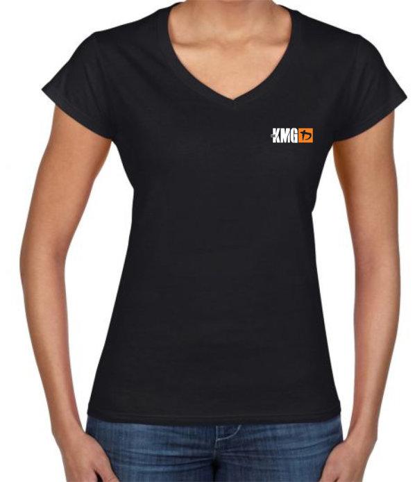 Ž. crna k. majica - narančasti logo