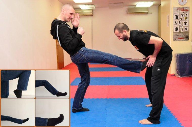 Tehnika: Udarac nogom (regular) / udarac koljenom
